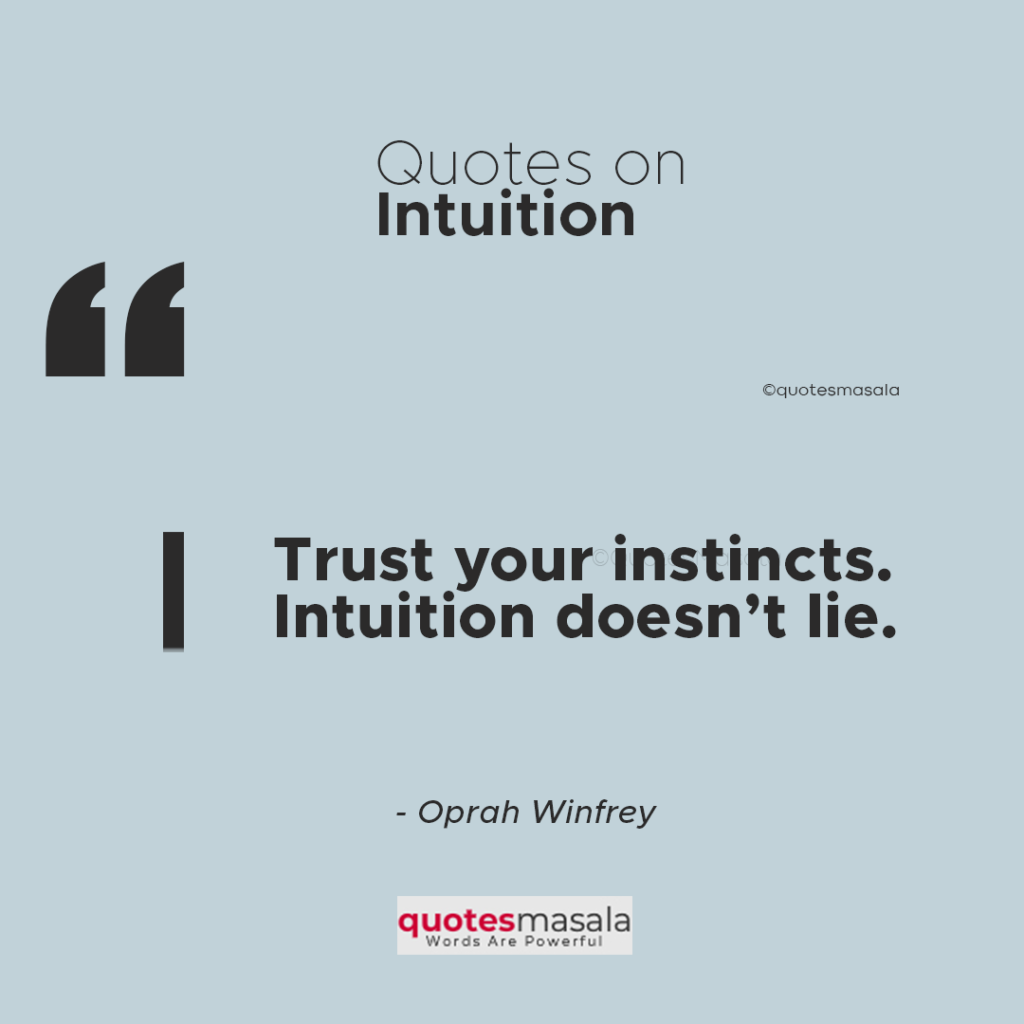 Intuition Quotes Images