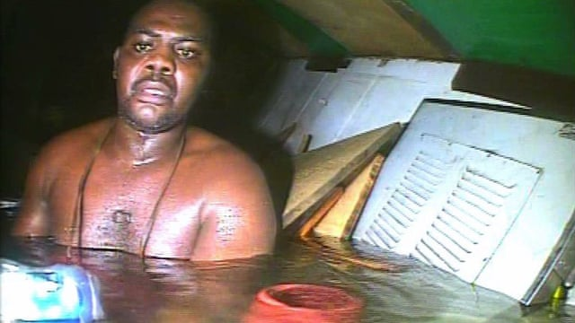 Original picture of Harrison Okene when he was stuck in the ship for three days.