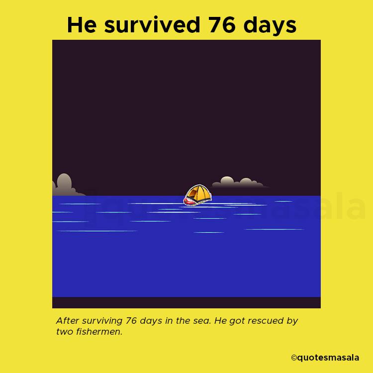 Illustration of Steven Challan's rubber raft   Story of Steven Callahan