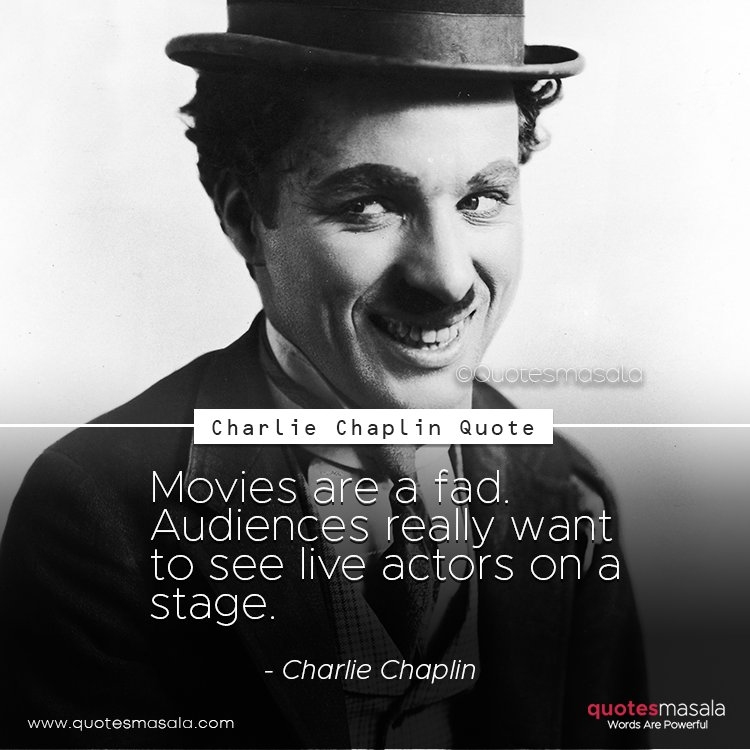 Charlie Chaplin quotes with image