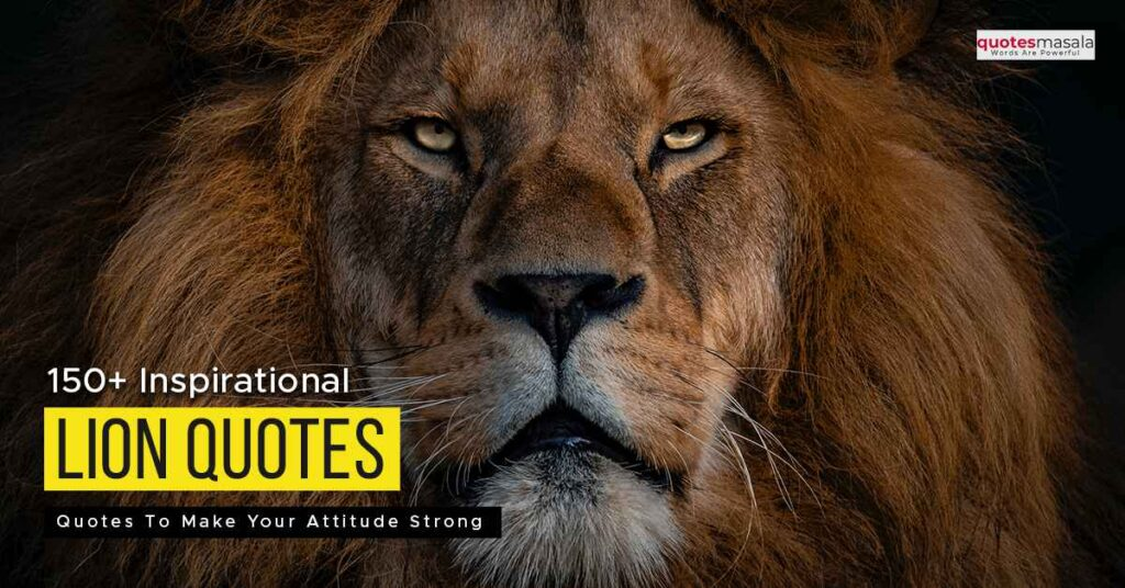 Lion quotes for inspiration