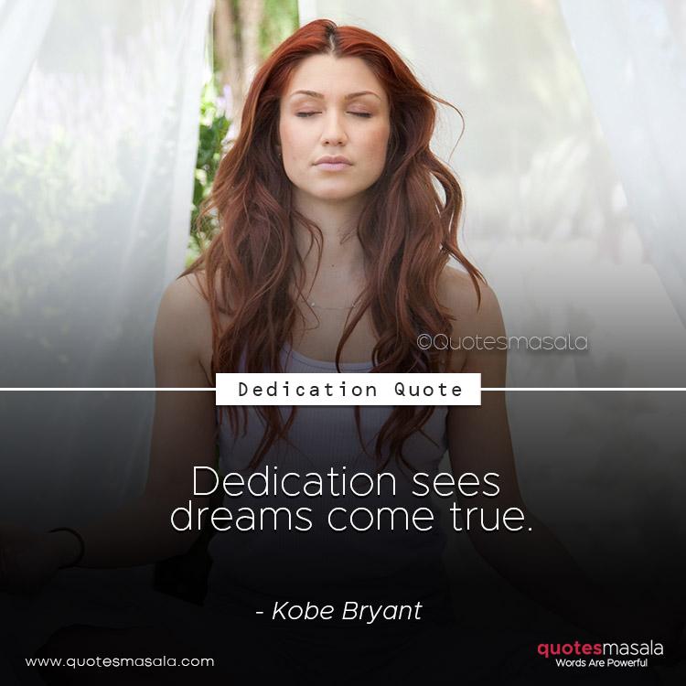 Dedication quotes by Quotesmasala
