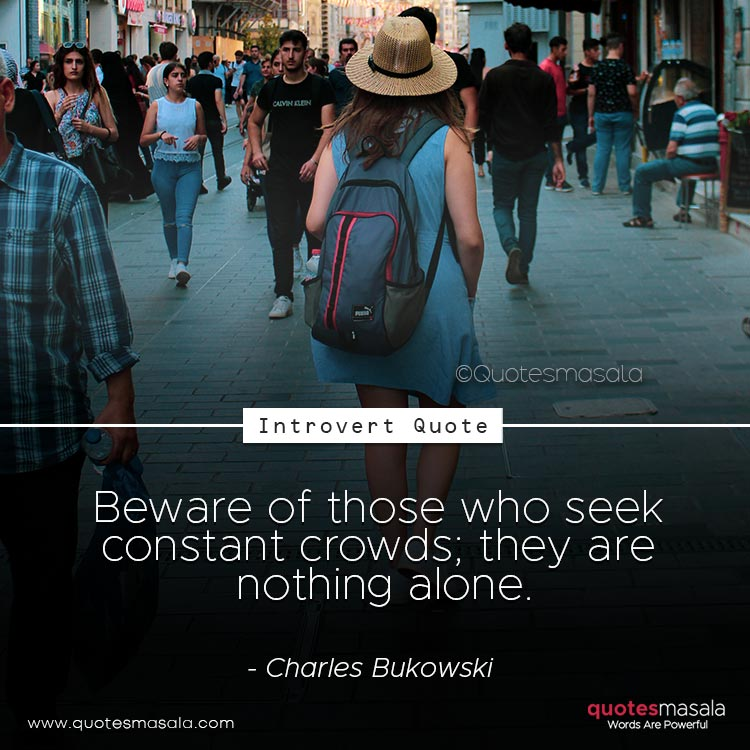 Introvert quotes with image.